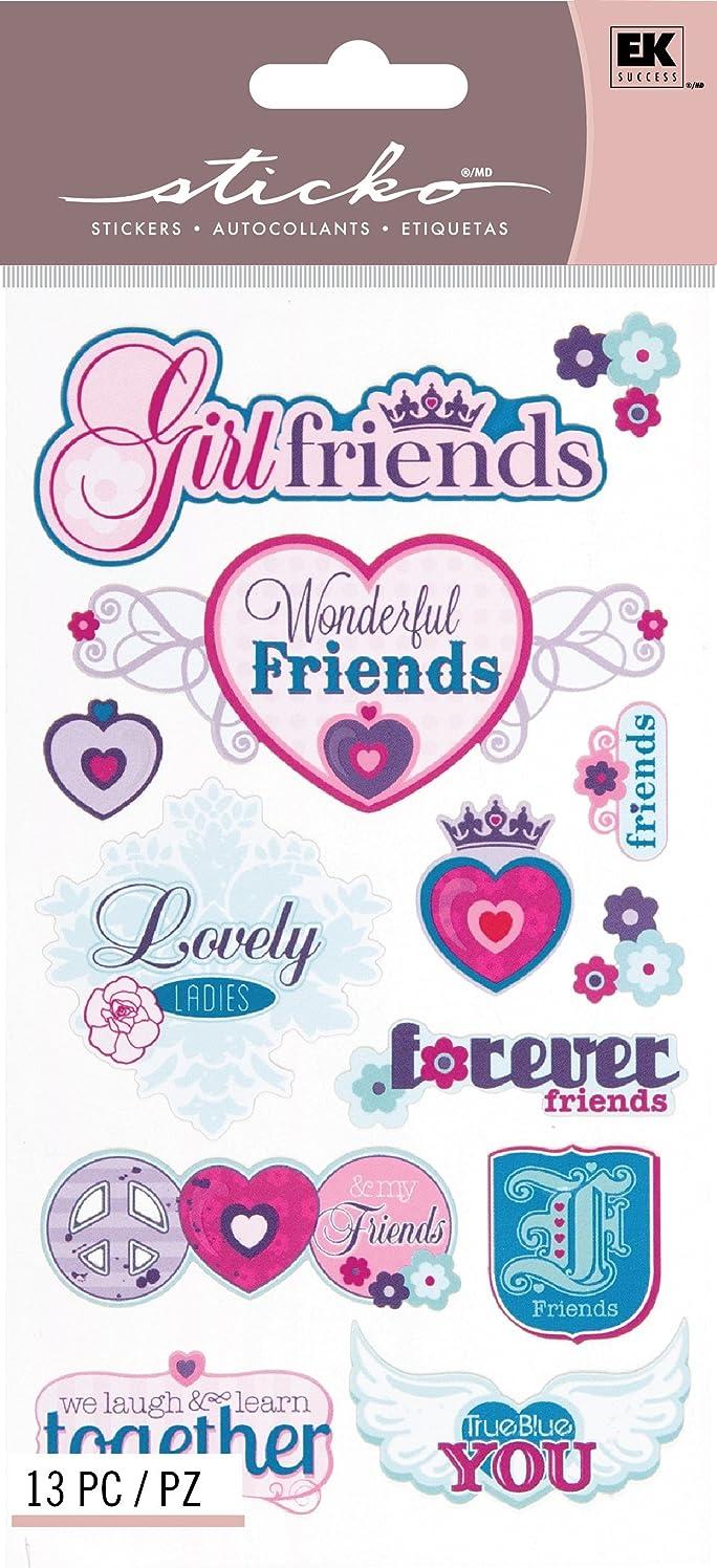 EK Success Brands Decorative Sticko Stickers, Best Girlfriends