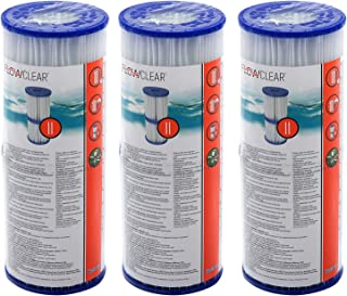 6 piezas Bestway - Cartuchos de filtro para bombas de piscina Intex Bestway tamaño 2 -