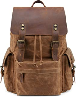 Kattee Large Canvas Backpack School Bag Outdoor Travel Rucksack,Vintage Briefcase Satchel Shoulder Bag