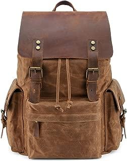 Kattee Large Canvas Backpack School Bag Outdoor Travel Rucksack,Vintage Briefcase Satchel Shoulder Bag