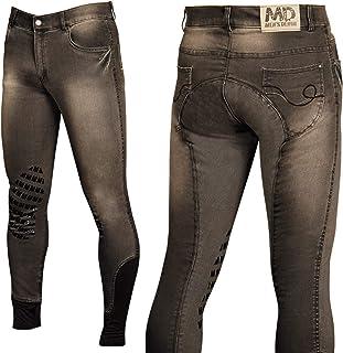 Donna D40 Reithose Dirty Denim Grip Harry s Horse Pantaloni da Equitazione da Donna Dirty Denim Grip