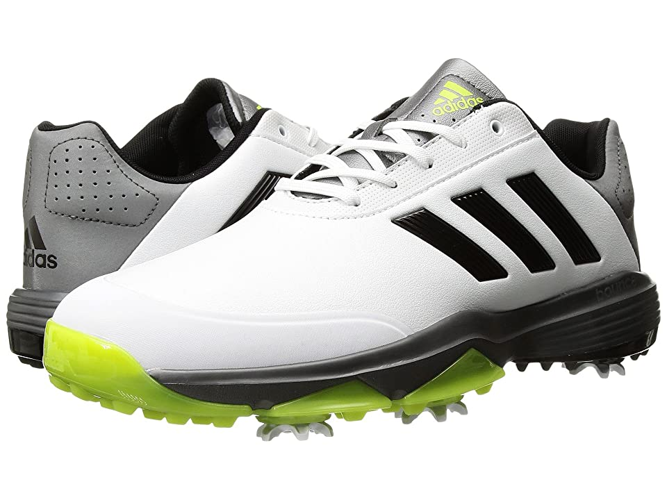 adidas Golf Adipower Bounce (Ftwr White/Core Black/Solar Slime) Men's Golf Shoes