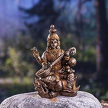 Pacific Giftware Hindu God Saraswati Miniature Resin Figurine Statue