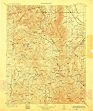 YellowMaps Mt Goddard CA topo map, 1:125000 Scale, 30 X 30 Minute, Historical, 1912, Updated 1912, 19.7 x 16.5 in