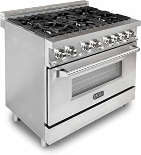 Z Line E36-60 Professional 4.6 cu. ft. 6 Gas Burner/Electric Oven Range, Stainless Steel