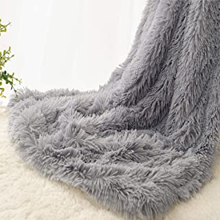 EMME Faux Fur Blanket Fuzzy Soft and Plush Shaggy Fall Throw Blankets for Bed Long Fur..