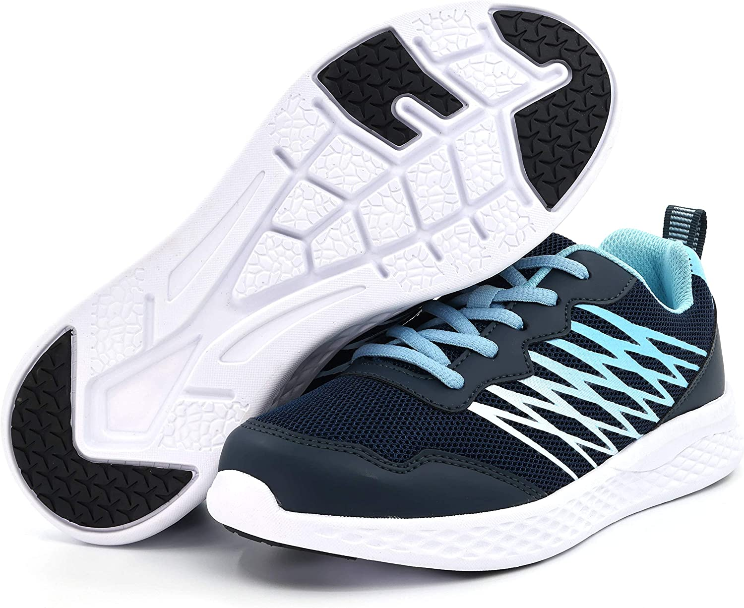 Skywheel Boys Girls Athletic Running Sneakers Kids Lightweight Lace Up Sports Tennis Shoes