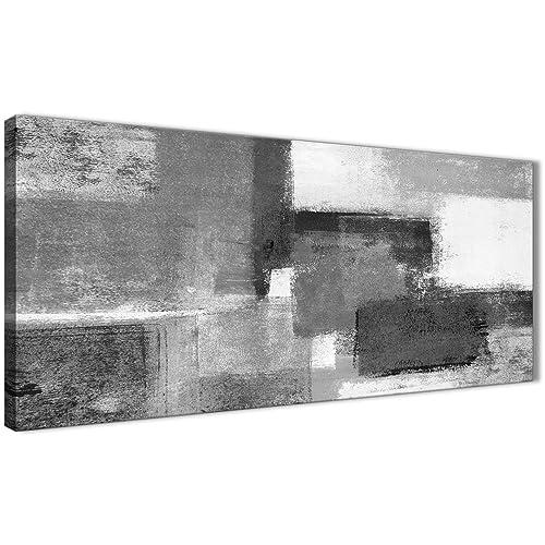 Black Grey And White Wall Art Amazoncouk