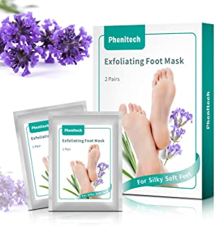 2 Pack Foot Peel Mask Feet Baby Soft Touch - Phenitech Exfoliating Dead skin, Foot Peeling Mask and Callus Remover, for Men and Women