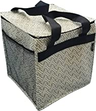 Two Lumps of Sugar Trunkey Tote - Thermal Lined Folding Carryall Brown