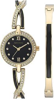 ساعة وسلسلة مزينة بالكريستال من ارمترون للنساء , 75/5720