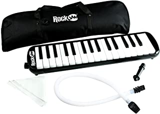 RockJam 32 Key Melodica with 2 Mouthpieces Air Piano Keyboard, Pianica, With Carrying Bag..