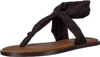 Sanuk Women's Yoga Sling Ella Sandal, black, 07 M US