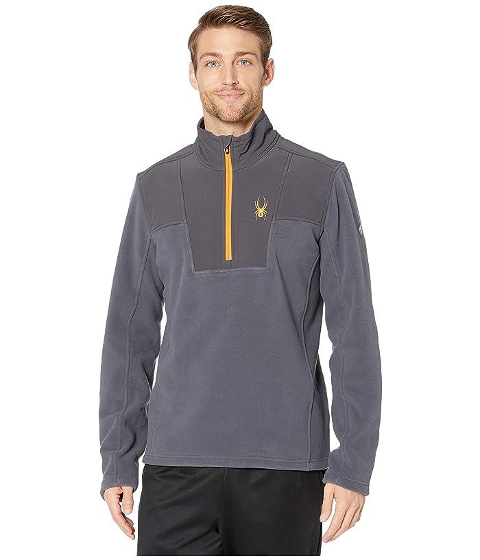 Basin 1/2 Zip Fleece Jacket (Ebony) Men's Coat
