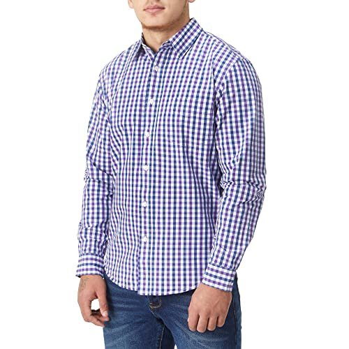 3820d99a0869c Charles Wilson Originals Long Sleeve Men s Gingham Checked Casual Shirt