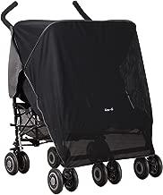 Koo-DI Double Sun and Sleep Stroller Cover (Black)