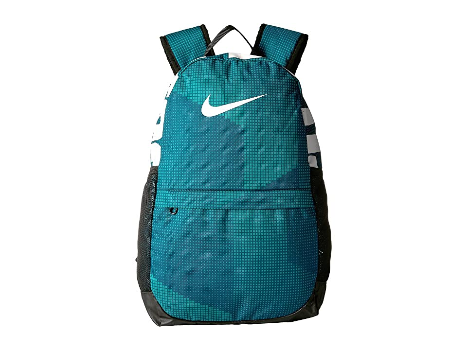 Nike Kids Brasilia Printed Backpack (Little Kids/Big Kids) (Geode Teal/Black/White) Backpack Bags