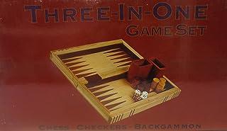 3-in-1 Attache Case Style Combination Game Set - Chess , Checkers , Backgammon