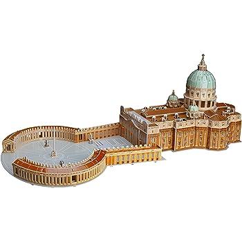 WISESTAR 27.6インチ L 聖ペトロ大聖堂 3Dパズルモデル 大人と子供用 165ピース 教会建築建築セット 手作りクラフトキット 教育玩具 男の子 女の子への誕生日プレゼント