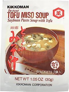 Kikkoman Miso Soup Tofu Instant, 1.05-Ounce Units (Pack of 12)