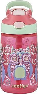 Contigo autospout 吸管 gizmo 翻转儿童水瓶 Sprinkles with Owl Parliament 14 盎司