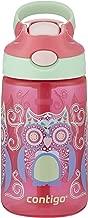 Contigo AUTOSPOUT Straw Gizmo Flip Kids Water Bottle, 14 oz, Sprinkles with Owl Parliament (2004943)