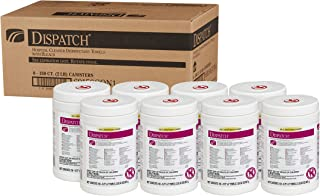 Dispatch Hospital Cleaner Disinfectant Towels with Bleach, 150 Count Each (Pack of 8) (69150)