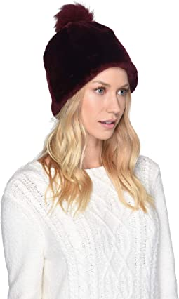 Solid Water Resistant Sheepskin Beanie