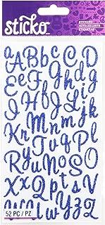 Sticko Sweetheart Blue Script Alphabet Sticker