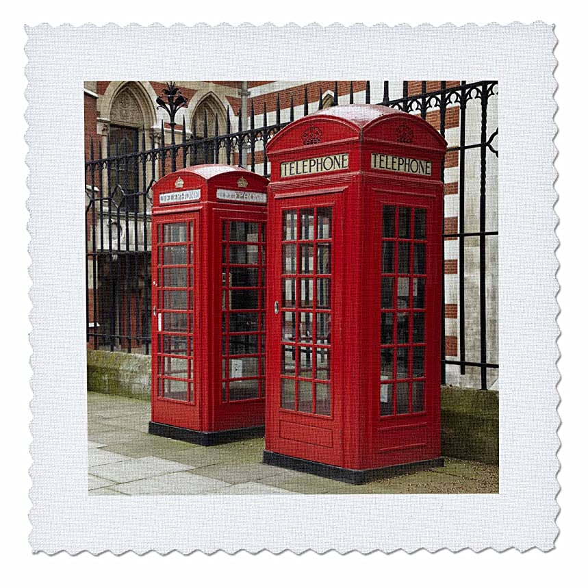 3dRose Phone Boxes, Royal Courts of Justice, London, England - Eu33 Dwa0003 - David Wall - Quilt Square, 6 by 6-Inch (qs_82770_2)