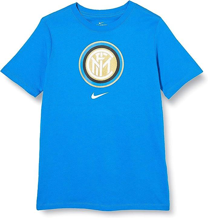 T-shirt inter - maglietta inter- nike inter b nk tee evergreen crest AQ7856