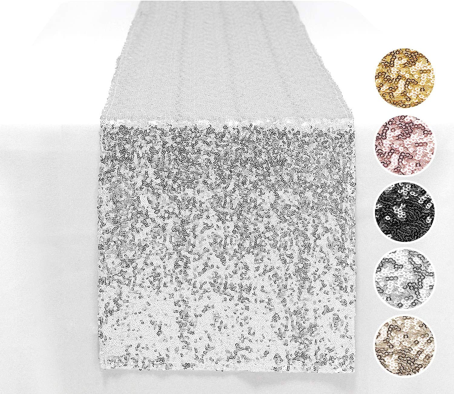 Peomeise 6PCS 12x108 Inch Sequin unisex Table Event Party De Runner Raleigh Mall for