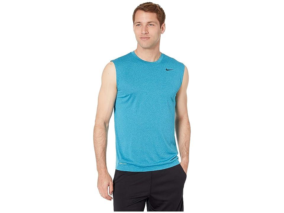 Nike Legend 2.0 Sleeveless Tee (Green Abyss/Light Blue Fury/Black) Men
