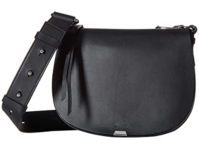 AllSaints Captain Round Crossbody (Black) Bags