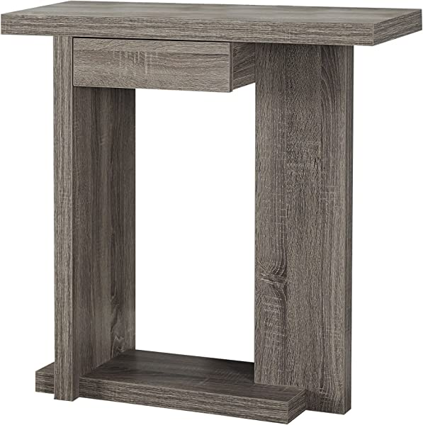 Monarch Specialties I 2459 Hall Console Accent Table 32 Dark Taupe