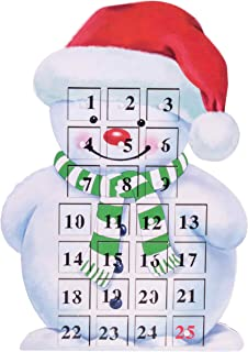 Clever Creations 24 Day Snowman Advent Calendar Countdown to Christmas | Painted Wood with Numbers | 100% Wood Construction | Unique Holiday Decoration | Measures 9.75