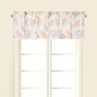 Seabrook Window Valance Printed Cotton 72 X 15.5 Inches Starfish Shells Coral