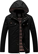 Wantdo Men's Warm Casual Military Jacket with Removable Hood