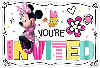 Amscan Minnie Mouse Happy Helpers Invitations (8 ct),Multi-colored,One Size
