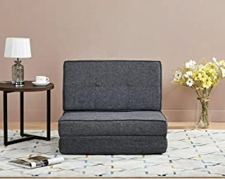 AmazonBasics - Sofá cama, 74 x 80 x 61,5, gris oscuro