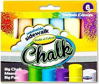 Premier Stationary World of Colour Lot de 6 craies de trottoir colorées