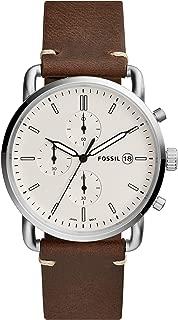FOSSIL Men's FS5402 Year-Round Chronograph Quartz Brown Band Watch