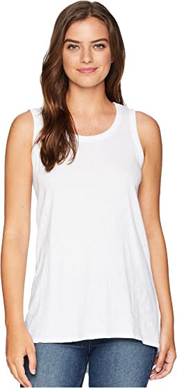 Mini Pointelle Knit Back Rib Vented Tank Top