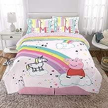 Franco Kids Bedding Super Soft Comforter and Sheet Set, 5 Piece Full Size, Peppa Pig