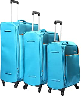 American Tourister Jamaica Spinner Luggage Trolley Bags Set, 3 Pcs - Turquoise, Unisex