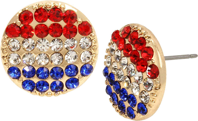 Betsey Johnson Round Stud Earrings