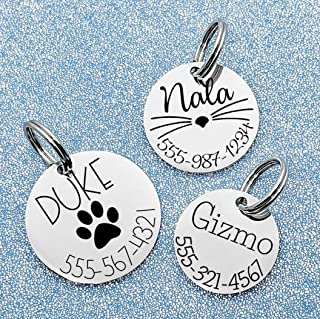 61b9e6eddb3b Pet ID Tag Custom Engraved Circle - Choose your font - Choose your design -  3