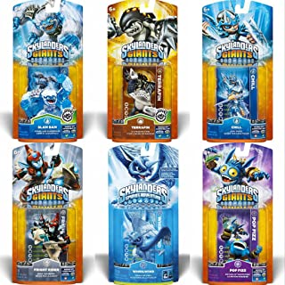 Skylanders Giants: Six (6) Characters Team Pack Core Series 2 - Slam Bam, Terrafin, Chill, Fright Rider, Whirlwind and Pop Fizz