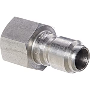 Eaton Hansen LL3T21 Stainless Steel 303 Straight Through Ball Lock Hydraulic Fitting 3//8 Body 3//8 Port Size Plug 3//8-18 NPTF Female