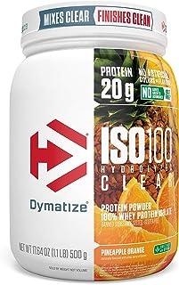 Dymatize ISO100 Hydrolyzed Clear Protein Powder, 100% Whey Protein Isolate Powder, 20g of Protein & 4g BCAAs, Gluten Free,...